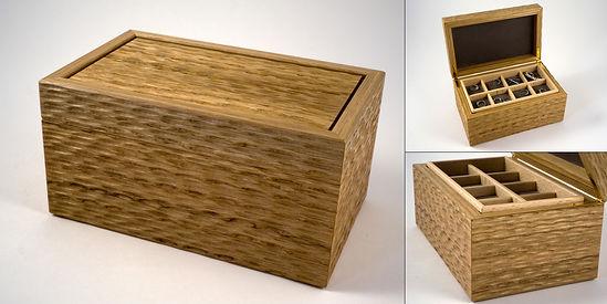 Handmade oak jewellery box