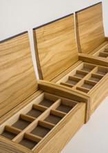 Small jewellery box made from oak