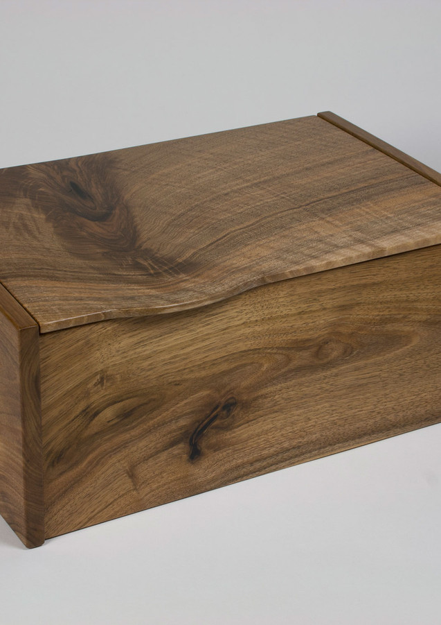 Jewellery box made from English walnut