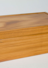 Jewellery box made from yew