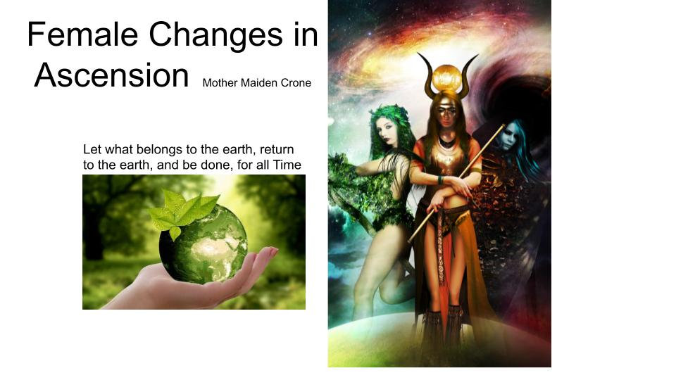 Female Menstrual Changes in Ascension - Mother Maiden Crone