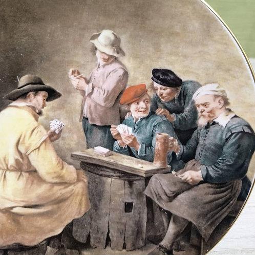 """Plato de Colección Crown """"A Game at Cards."""
