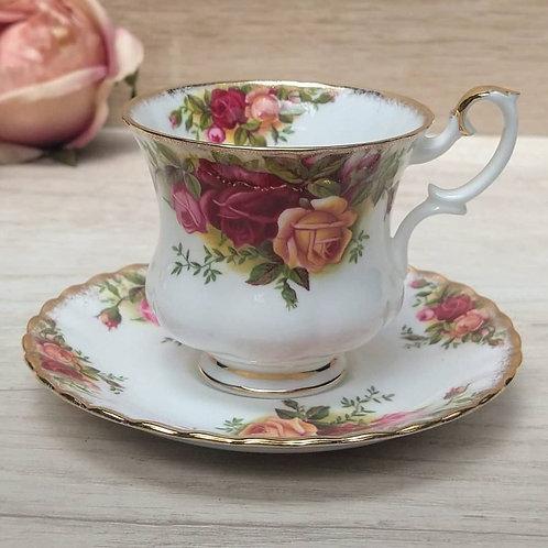 "Duo de Café ""Old Country Roses"", Royal Albert."