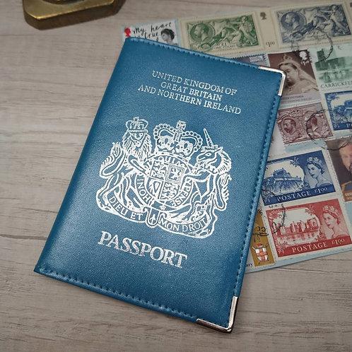 Porta pasaporte de Cuero.