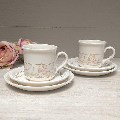 Tríos de té, Biltons coloroll, años 80.