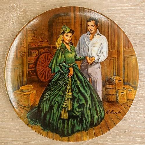 """Plato de Colección """"Scarlett Green Dress"""" Lo que el viento se llevó""""."""