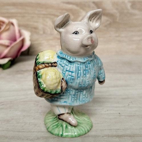 """Figuras de Peter Rabbit, """"Little Pig Robinson"""", Royal Albert 1989"""