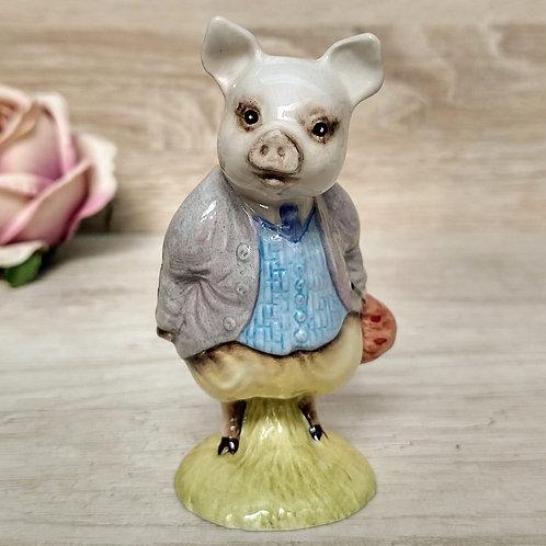 """Figuras de Peter Rabbit, """"Pigling Bland"""", Royal Albert 1989"""