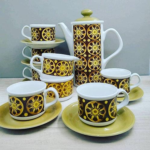 """Juego de Café """"ELEANOR"""", 1970."""