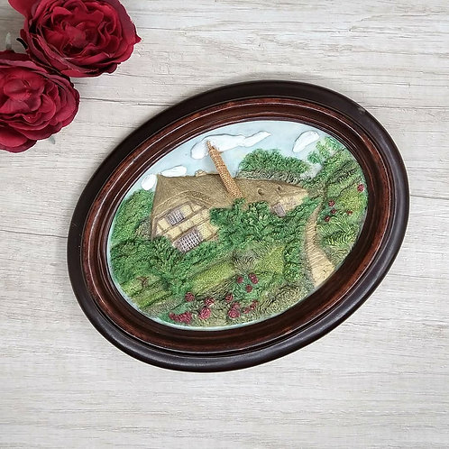 "Cuadro en relieve diseño ""Cottage Roses"""