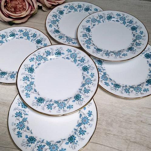 """Seis platos """"Braganza"""" Colclough."""