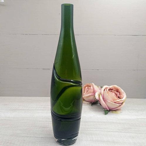 Botella/Florero vidrio soplado