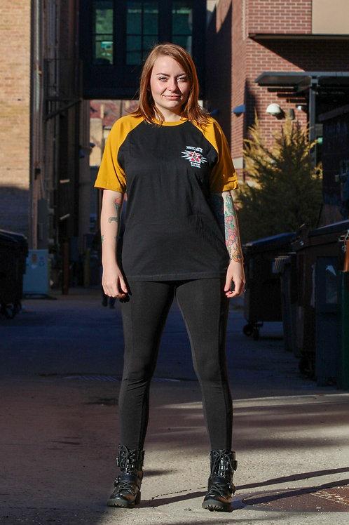 Mustard Hawk Baseball T-Shirt