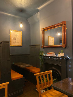 The Ale Way Axminster Station Interior Fireplace