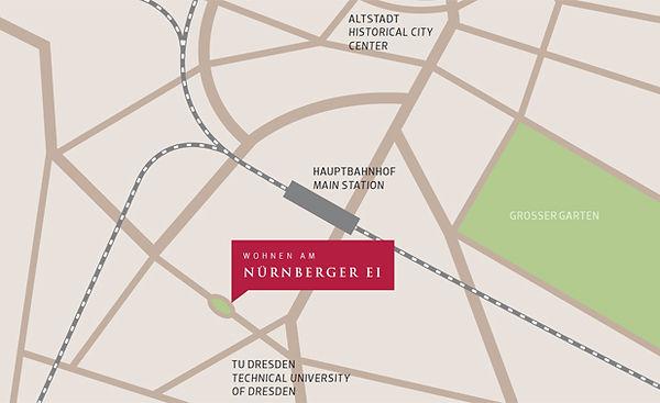 Lage Nürnberger EI TU Dresden