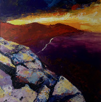 sunset over the peaks SOLD