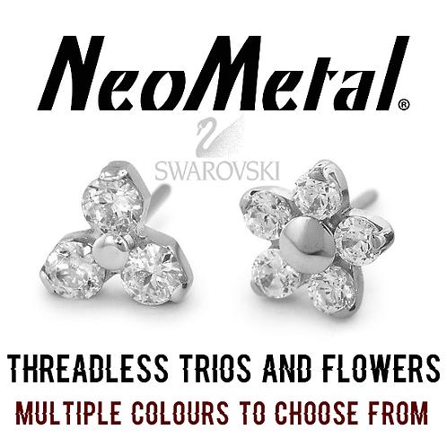 NeoMetal - Threadless Trio and Flower Titanium Attachments
