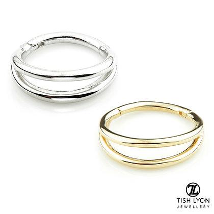 Tish Lyon - 14ct Gold - Double Band Hinged Ring