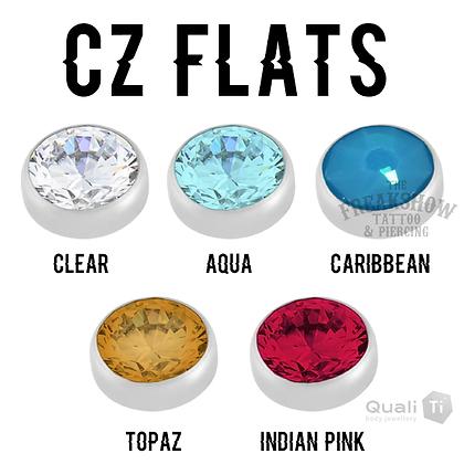 QualiTi - CZ Flat Titanium Attachments