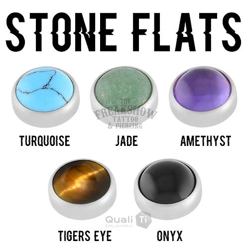 QualiTi - Stone Flat Titanium Attachments