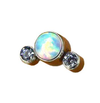 QualiTi - 3 Stone Cluster Snow Day Opal Attachment
