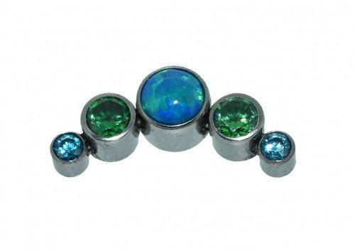 QualiTi - 5 Stone Cluster Jade Sea Opal Attachment