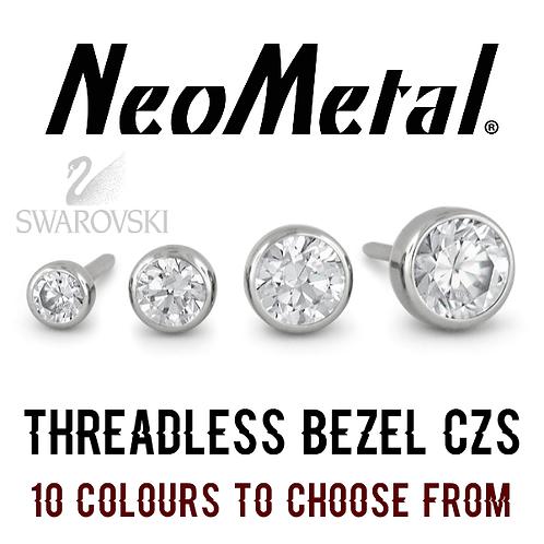 NeoMetal - Threadless Bezel CZ Titanium Attachments