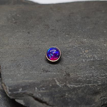 Anatometal - Purple Opal Bezel End