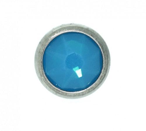 QualiTi - CZ Caribbean Blue Flat Attachment