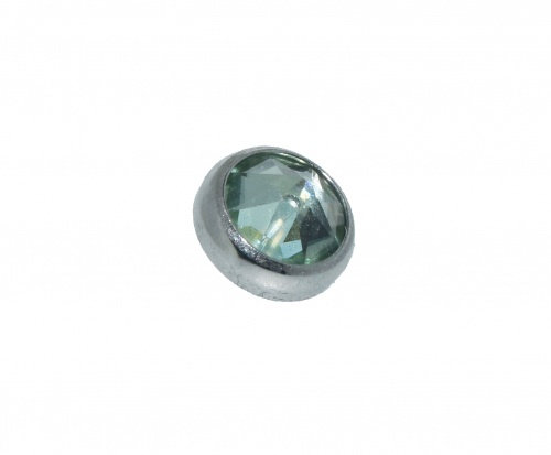 QualiTi - CZ Chrysolite Green Flat Attachment