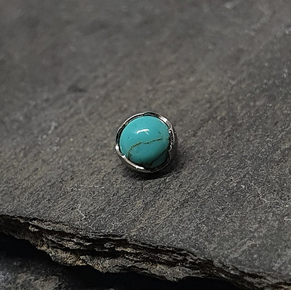 Anatometal - Turquoise Stone Prong End