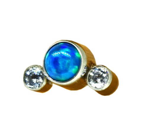 QualiTi - 3 Stone Cluster Periwinkle Opal Attachment