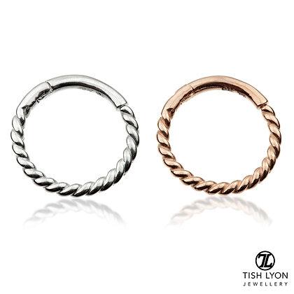 Tish Lyon - 14ct Gold - Rope Hinged Ring