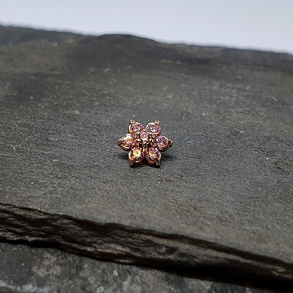 Anatometal - Flower - Rose Gold and Pink CZ