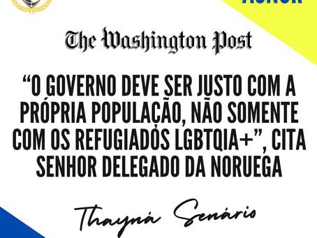 """""""O governo deve ser justo com a própria população, não somente com os refugiados LGBTQIA+""""- ACNUR"""