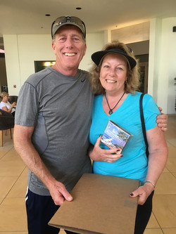 Traci and Keith with their treasure