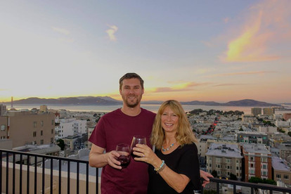 San Fran son and rooftop view
