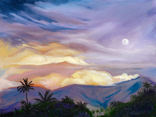 Moonrise Over Haleakala- Maui