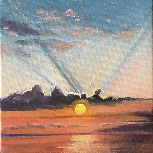 Sunset Over Lana'i