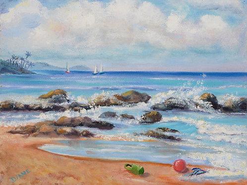 The Other Slippah is Already Gone, Keawakapu Beach, Maui