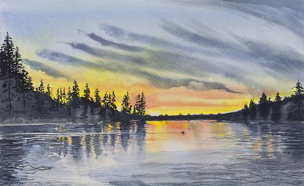 Lake Crossing 17 x 28