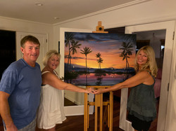 sheryl and michael came over to pick up their custom painting