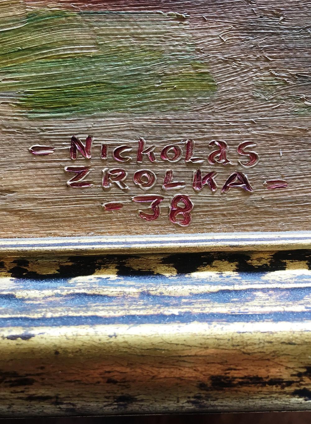 Painting signature 1938