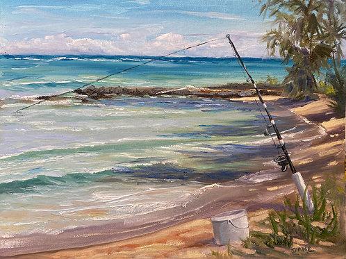 Fishing at Ka'a Point - Maui