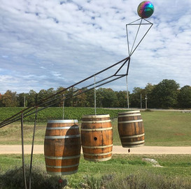 Winery Sculpture is musical and almost a perpetual motion machine!!