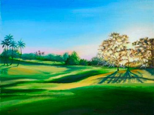 9th Hole Wailea Blue Course -Sunsetting Maui
