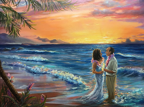 Vows in Paradise...I can place you in this scene instead