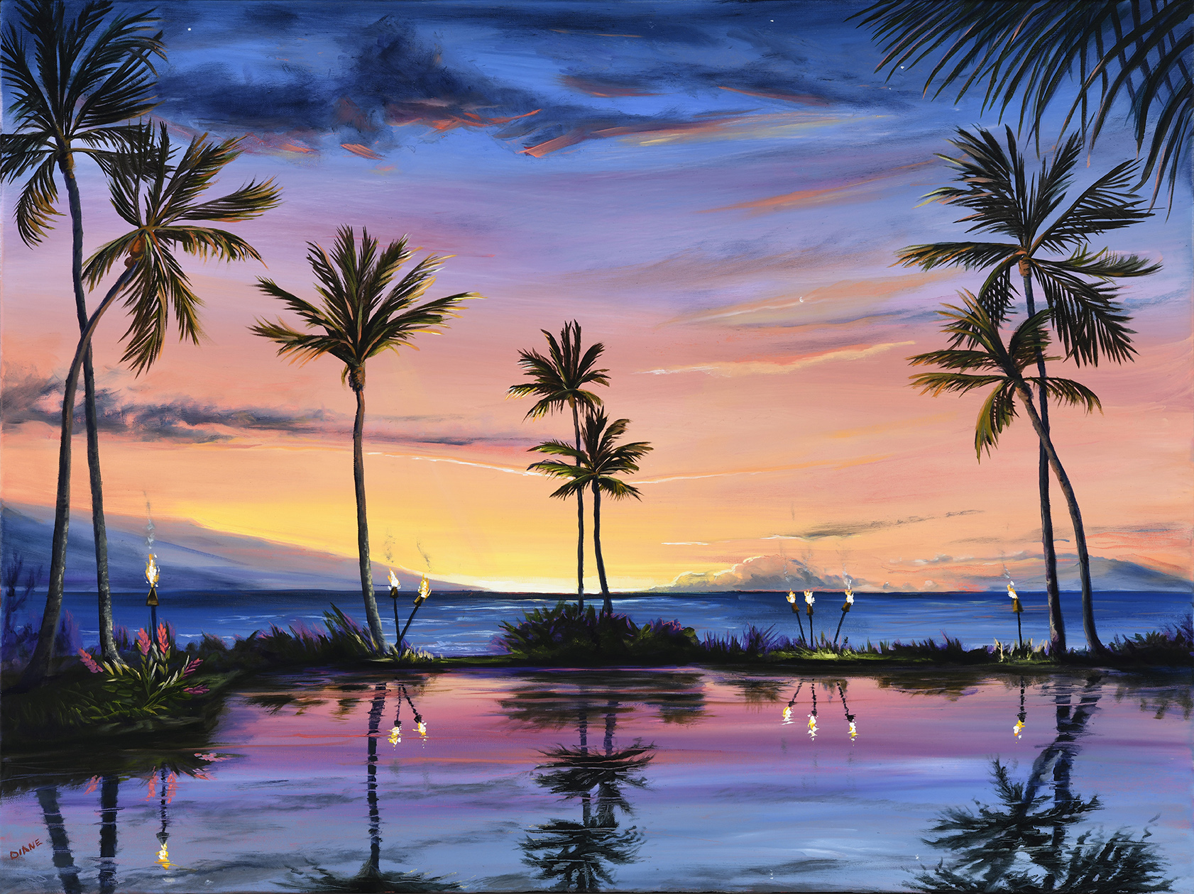 Sunset Across the Grand 30 x 40