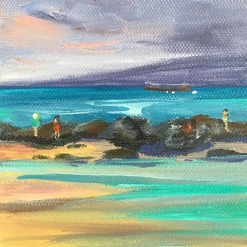 Beachcombers At Dawn