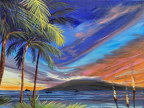 Sunset at the Luau - Maui
